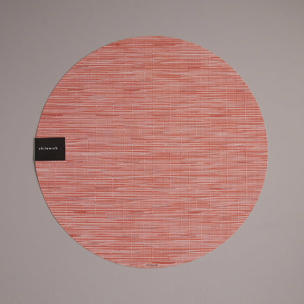 Chilewich Vinyl Placemats / Bamboo Sunset Round