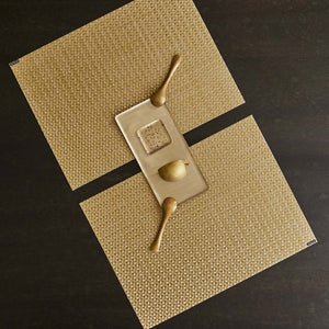 Chilewich Vinyl Placemats / Origami Honey