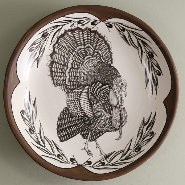 Handmade Small Round Platter / Turkey