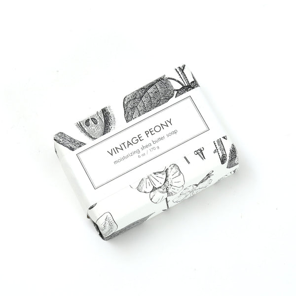 Shea Butter Soap Bar / Vintage Peony