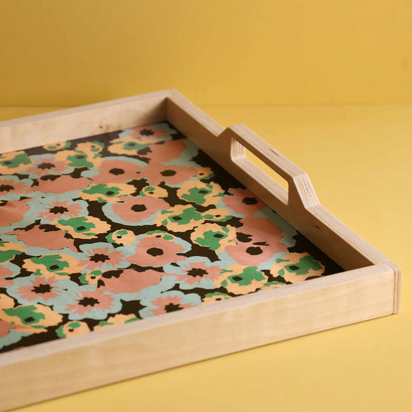 Birch Laminate Tray / Poppy