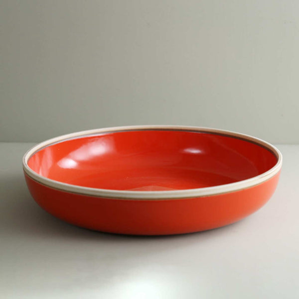 Coral Red Extra Large Serving Bowl