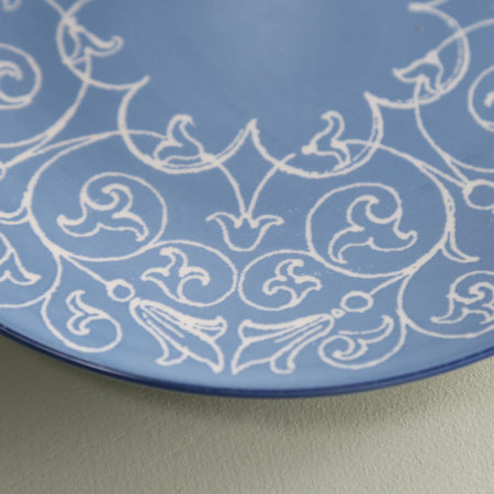 TUE Pattern Dinner Plate /  Turquoise