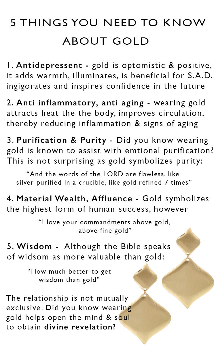 5 healing benefits of wearing gold