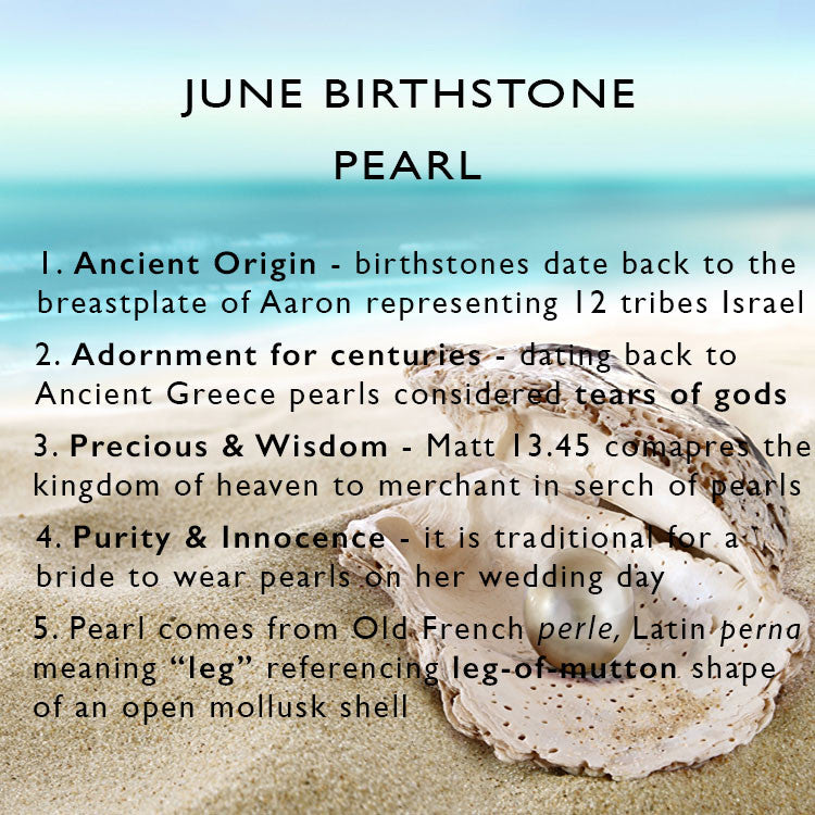5 things you need to know about pearl - June birthstone - clip on earrings