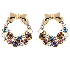 le petite princess crystal garland hoop clip on earrings