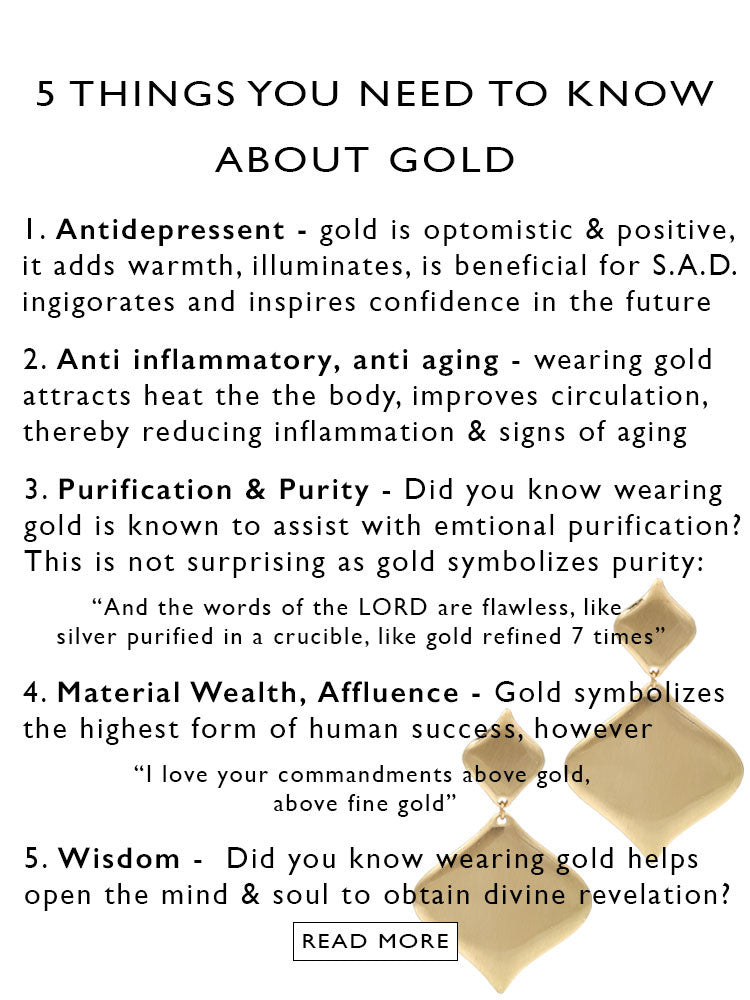 gold clip on earrings | 5 health benefits of wearing gold