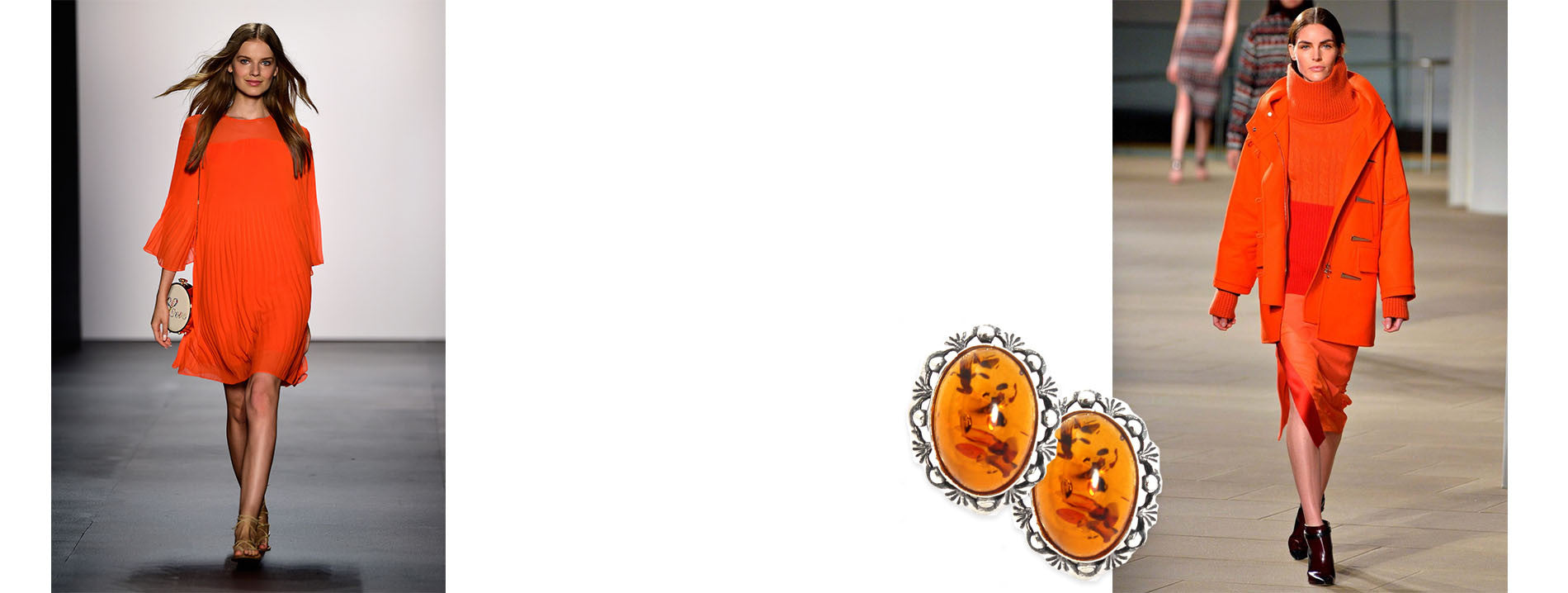 orange clip on earrings | color psychology orange | clip earrings for women