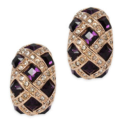 amethyst clip on earrings