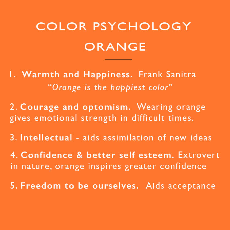 color psychology orange | clip on earrings