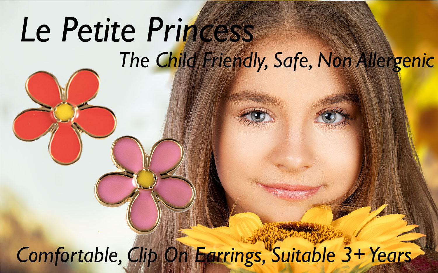 le petite princess safe kids children clip on earrings