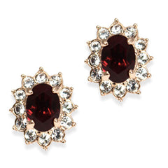 garnet January birthstone clip on earrings