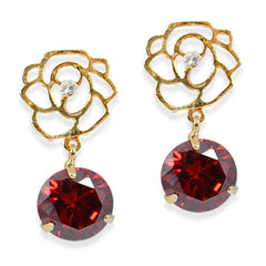 garnet clip on earrings