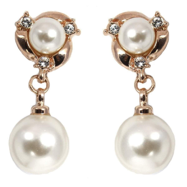 Drops - Elegant Double Pearl Crystal Drop