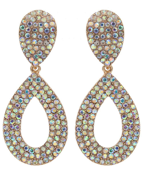 Drops - Glistening Studded Crystals Iconic Double Drop