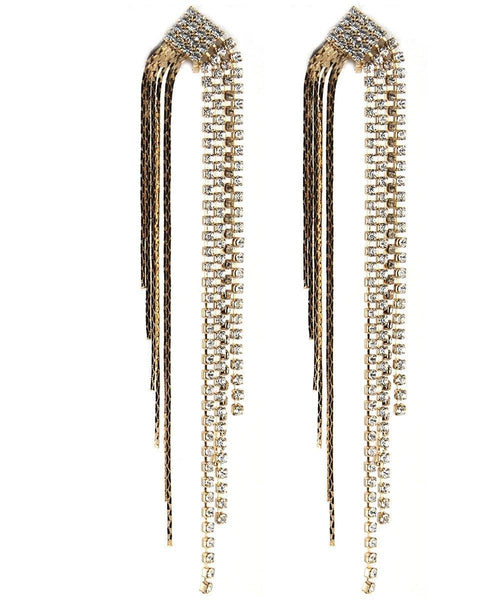 Drops - Gold Crystal Waterfall Chandelier Double Dangle Drop