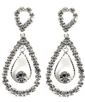 Drops - Studded Crystal Double Drop Chandelier Dangle Drop