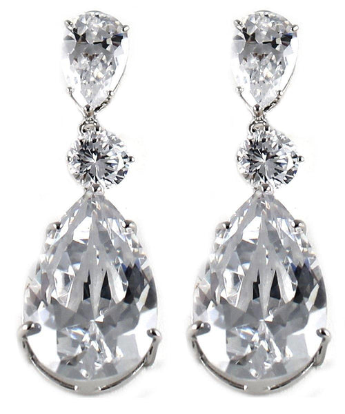 Drops - Three Tiered Large Crystals Dangle Drop