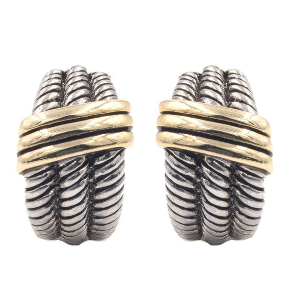 Hoops - Gold Silver Celtic Braid Stud