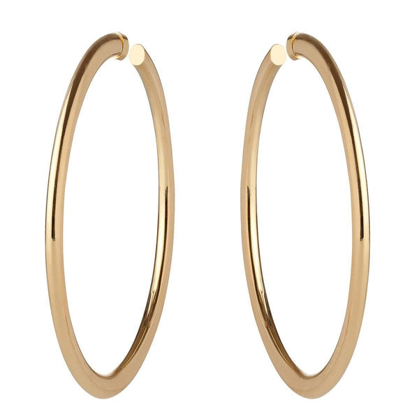Hoops - Medium Simple Gold Hoop