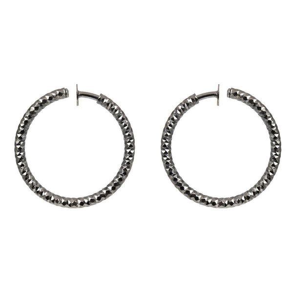 Hoops - Simple Graphite Hoop