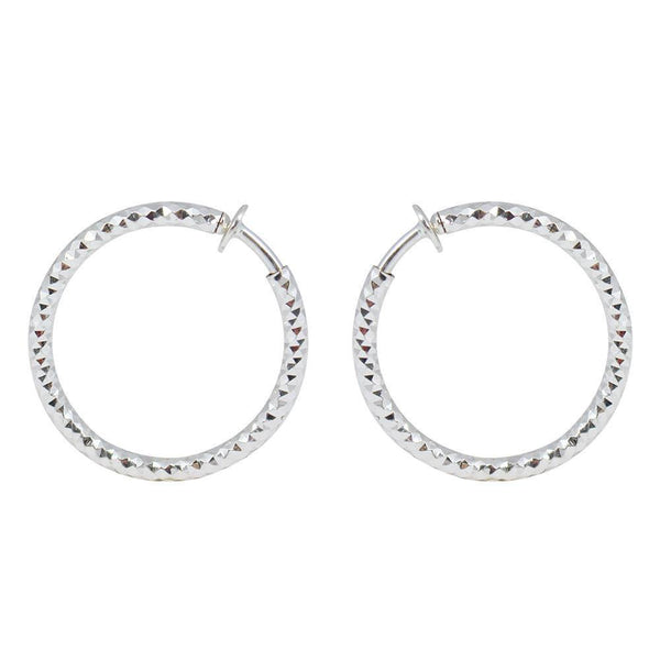 Hoops - Simple Silver Hoop