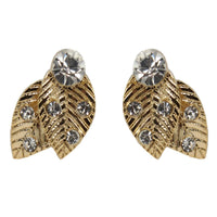Studs - Autumn Crystal Leaf Stud