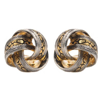 Studs - Classic Gold/Silver Celtic Design Love Knot Stud
