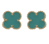 Studs - Colored Clover Stud