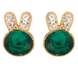 Studs - Colored Crystal Bunny Stud