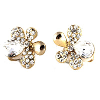 Studs - Colored Radiant Crystal Flower Stud