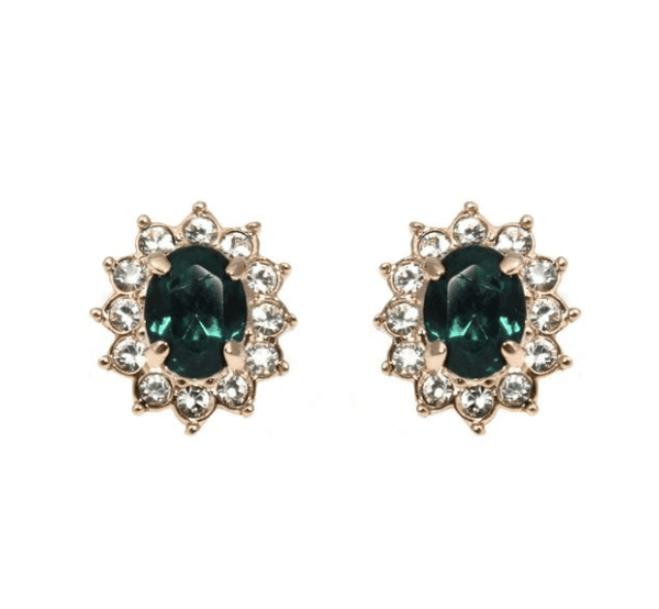 Studs - Colored Swarovski Crystal Sun Stud