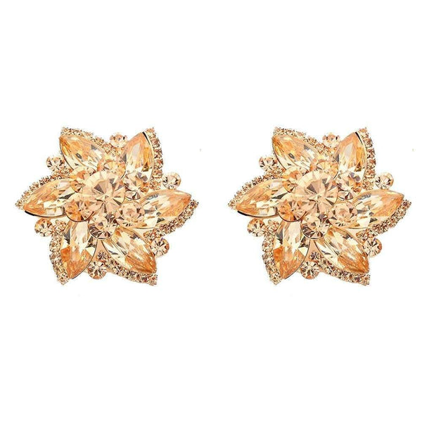 Studs - Large Colored Flower Cocktail Stud