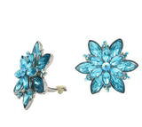 Studs - Large Colored Topaz Flower Cocktail Stud