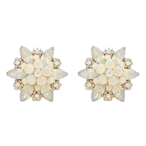 Studs - Large Crystal Flower Blossom Cocktail Stud