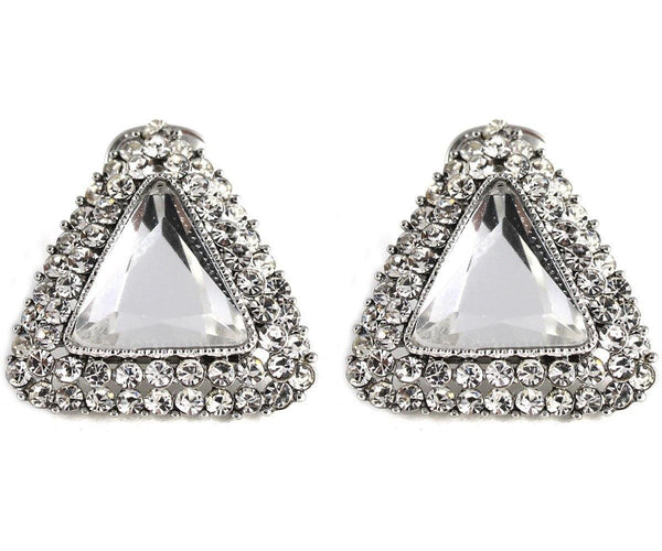 Studs - Large Vintage Crystal Triangle Stud