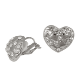 Studs - Studded Heart Swarovski Crystal Element Stud
