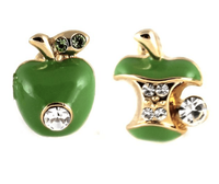 Studs - Swarovski Crystal Apple Eaten Stud Set