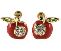 Studs - Swarovski Crystal Apple Stud Set