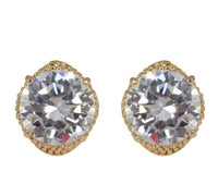 Studs - Swarovski Eye Crystal Element Gold Stud