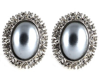 Studs - Vintage Blue Pearl Cocktail Stud