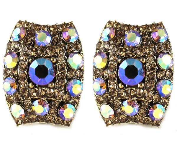 Studs - Vintage Bronze Crystal Cocktail Stud