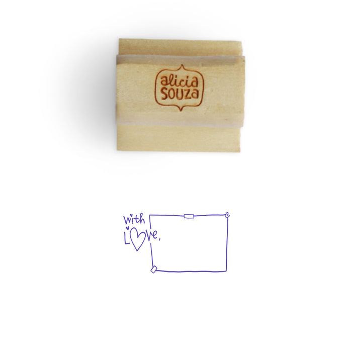 With Love Address Stamp