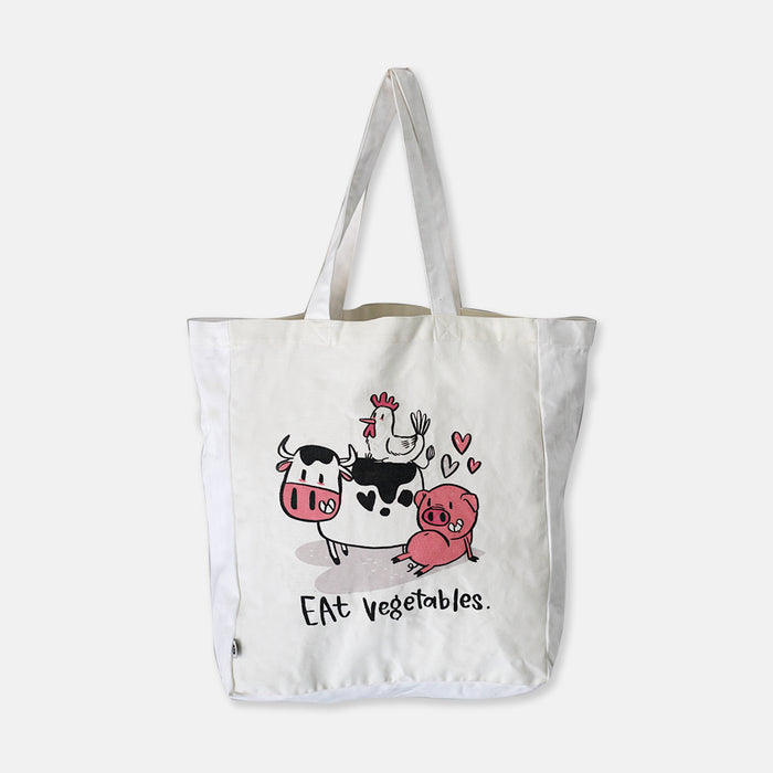 Eat Vegetables Tote Bag