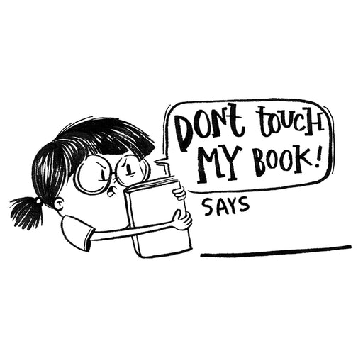 Don't Touch Book Stamp - GIRL