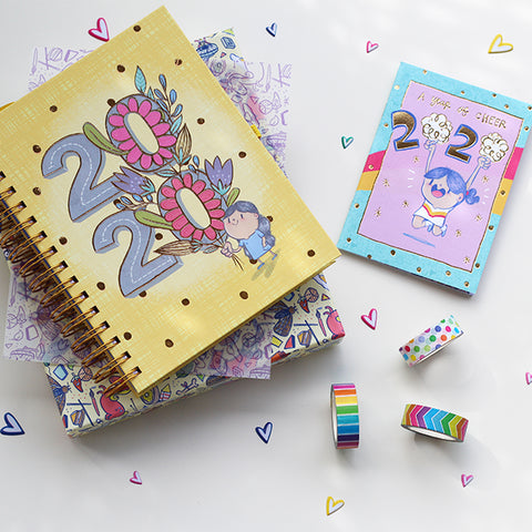 Combo - The Ultimate Planner 2020 (With FREE Year of Cheer Pocket Planner) + Washi Tapes