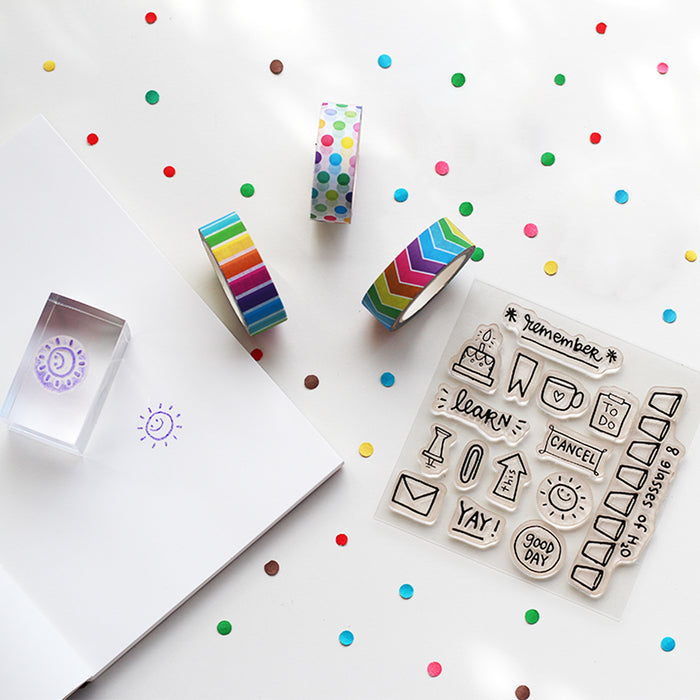 Combo - Clear Stamps + Washi Tapes