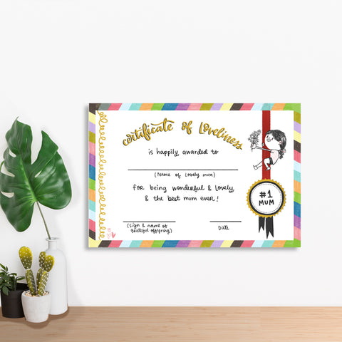 Best Mom Certificate