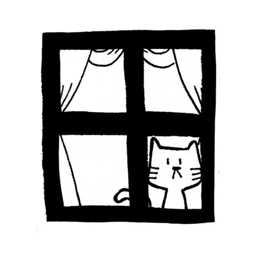 Window Cat Stamp