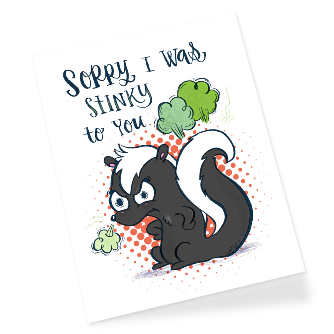 Stinky Skunk Greeting Card
